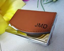 Personalized Business Cards Leather Business Card Holder Etsy
