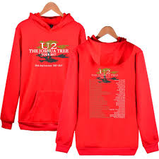 2017 new casual berlin rock band u2 with casual loose hoodie and