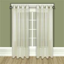 Sheer Grommet Curtains Tergaline Sheer Grommet Curtain Panel In Ivory Or White