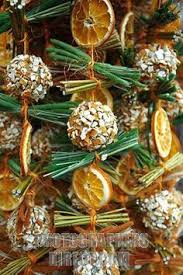 dried orange and cinnamon sticks for decoration