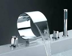 sophisticated cool bathroom faucet glass waterfall bathroom sink