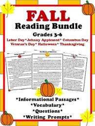 fall reading passages reading comprehension passages reading