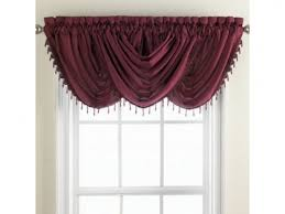 Chris Madden Rugs Chris Madden Mystique Waterfall Valance With Beaded Trim In Dark