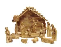 wooden nativity set carversart modern olive wood nativity set with stable reviews