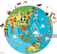 Map Of Globe Cartoon Map Of World Vector Art Getty Images