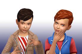 sims 4 kids hair mystufforigin long front hair for boys sims 4 hairs http