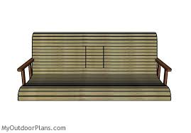 porch blueprints porch swing with center console plans myoutdoorplans free