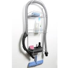 cleaning closet rack wall mounted material steel wire