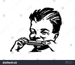 chocolate martini clipart boy playing harmonica retro clipart illustration stock vector