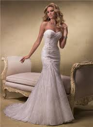 a line strapless sweetheart lace wedding dress with corset back