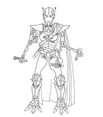 general grievous coloring page star wars coloring pages general