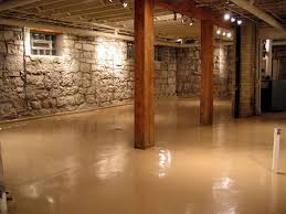 basement stone walls decorative basement floor with stone