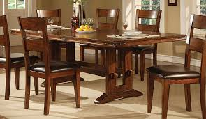 solid oak dining table and 6 chairs oak dining room sets attractive burress collections furniture 15 for