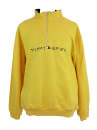 vintage hilfiger sweaters vintage hilfiger yellow half zip sweater 5 vintage