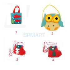 diy handmade fish pattern felt mini hand bag kit kid craft