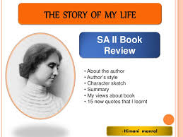 the story of my life sa 2 book review