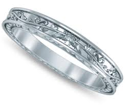 women s wedding bands women s wedding rings antique floral wedding ring in white gold