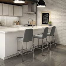 Kitchen Stools For Island Style by Amisco Spoon Metal Stool Non Swivel Upholestered Seat And