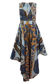 louisa african print maxi dress split level hem u2013 ohema ohene
