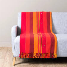 plaid coton canapé plaid coton pour canape plaid en coton et orange x atlas