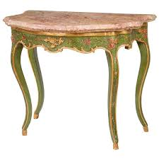 Venetian Console Table Venetian Marble Top Painted Console For Sale At 1stdibs