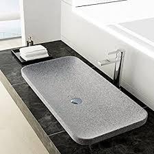 lenova sv 60 stone vessel bathroom sink white marble amazon com