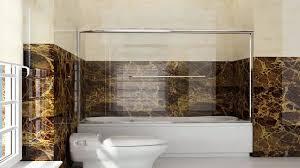 new 60 frameless bypass 2 sliding tub bathtub shower door 14 clear