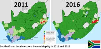 Port Elizabeth South Africa Map by South African Municipal Elections 2011 Vs 2016 1376 X 664 Mapporn