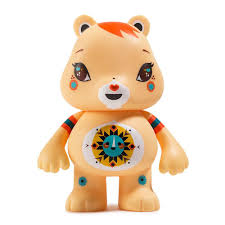 care bears funshine bear art figure julie west kidrobot