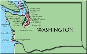 map of oregon lighthouses washington map