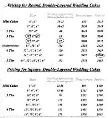 price for a cake price sheet pricing for a home bakery to cakes
