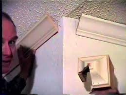Crown Moulding On Vaulted Ceiling by Crown Molding At A Cathedral Ceiling Youtube
