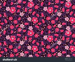 Beautiful Purple Motifs Cute Floral Pattern Pretty Flowers On Stock Vector 588851585