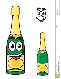 champagne bottle cartoon carton champagne or sparkling wine bottle stock vector image