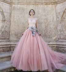 rosa brautkleid vestido de noiva brautkleid tulle lang farbe vintage rosa