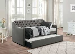 homelegance tulney button tufted upholstered daybed with trundle