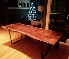 natural edge walnut dining table