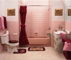bathroom kids bathroom sets and decor with blue glass washbasin