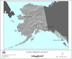 Alaska On The Map Obsidian Source Maps United States