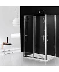 Shower Door 700mm Aqua I 3 Sided Shower Enclosure 1200mm Sliding Door And 700mm