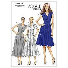 dress pattern john lewis vogue women s dresses sewing pattern 8577 dress sewing patterns