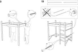 IKEA Beds LO BUNK BED FRAME TWIN PDF Assembly Instruction Free - Ikea bunk bed assembly instructions