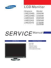 samsung 223bw service manual video computer monitor