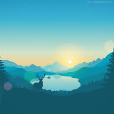 wallpaper flat forest deer 4k 5k iphone wallpaper abstract