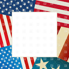 Us Flag Vector Free Download Independence Day Card With Copy Space And Usa Flag Royalty Free