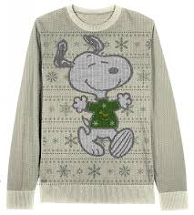 thanksgiving dog sweater amazon com snoopy snowflake pattern cream ugly christmas