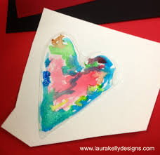 valentines day classroom party art project with elmers glue and