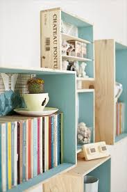 awesome wall crates holding books swedish dreams pinterest