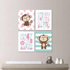 baby girl nursery art monkey nursery monkey bedroom zoom