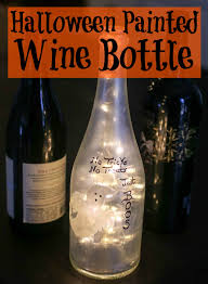 wine bottle halloween halloween painted wine bottle happily hughes